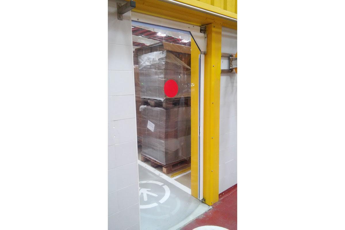 puertas flexibles pvc transito personas y carretillas