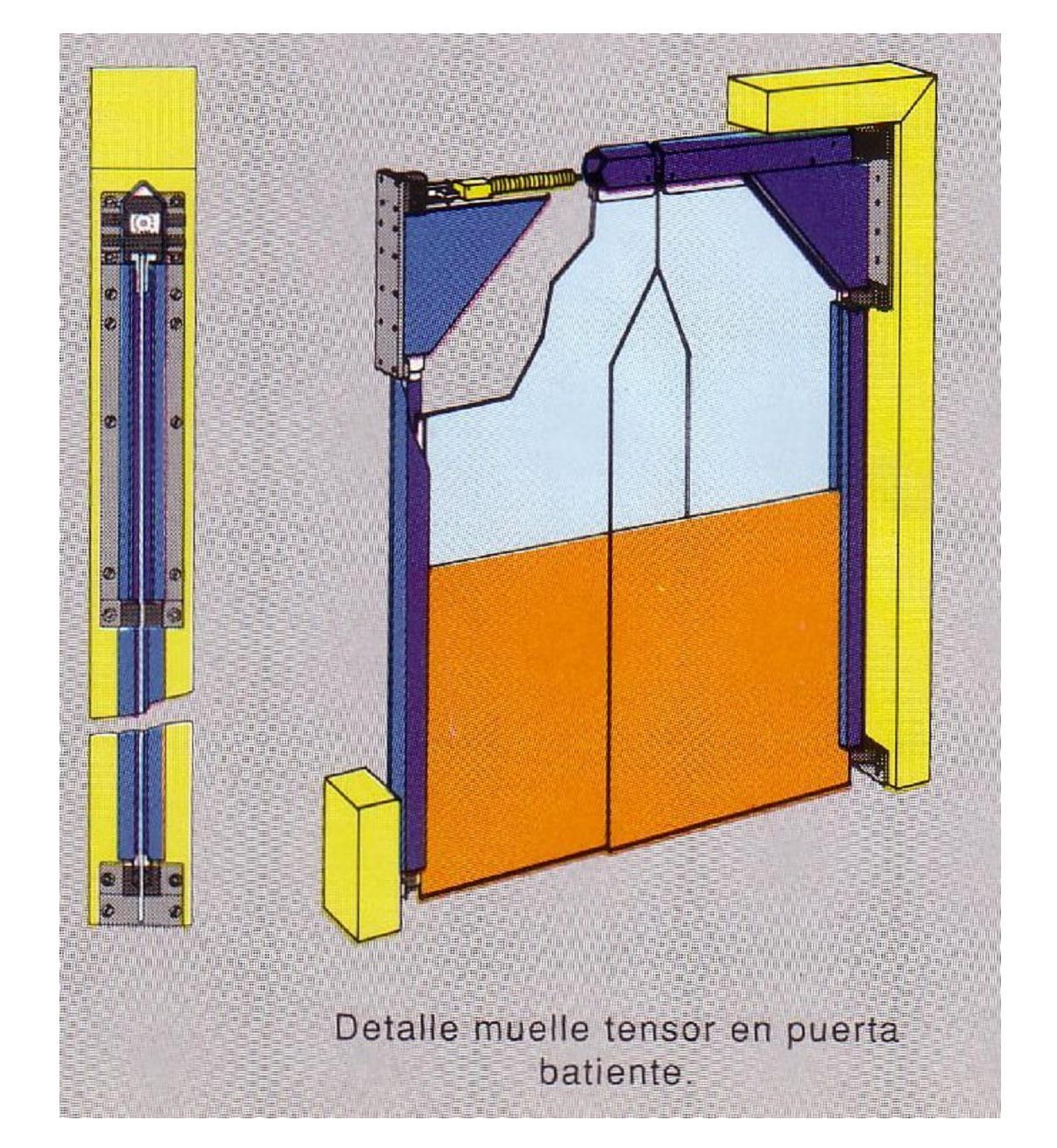 puertas batientes pvc flexibles para grandes superficies