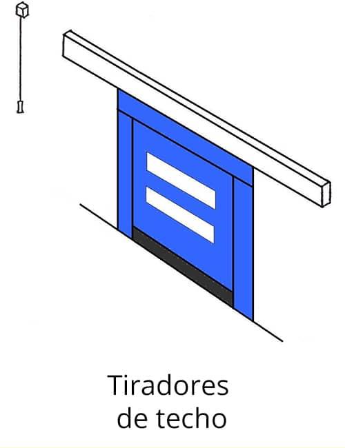 Tiradores de techo