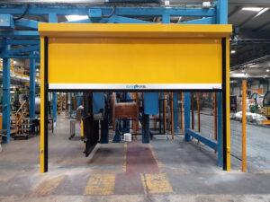 instalación puerta rápida sector energía