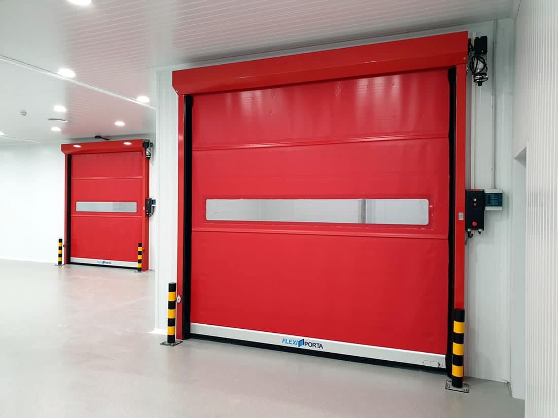 Instal·lació de 2 portes ràpides per sector alimentació